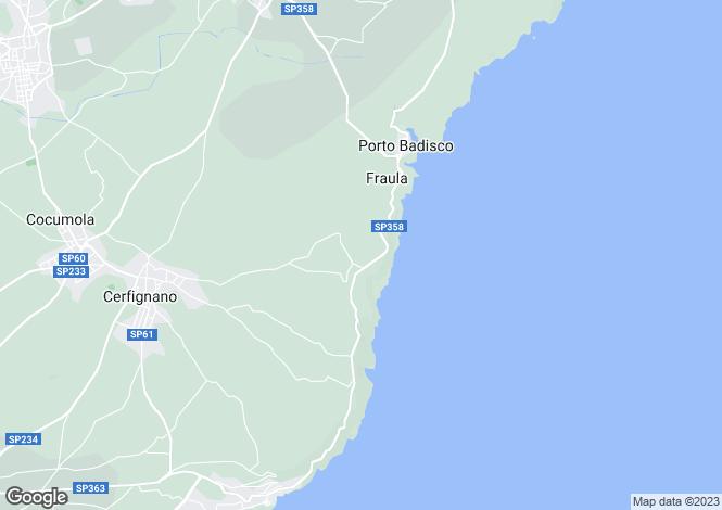 Map for Apulia, Lecce, Santa Cesarea Terme