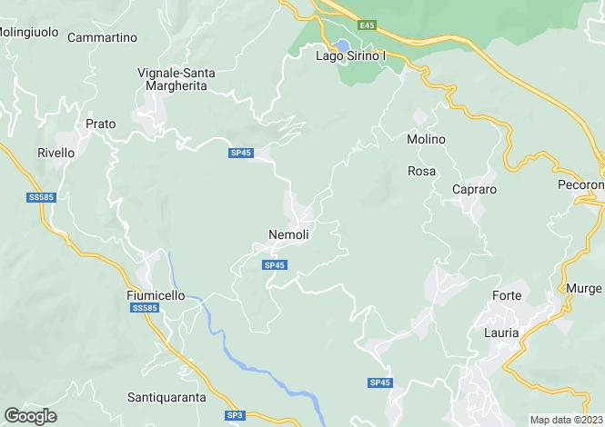 Map for Nemoli, Potenza, Basilicata