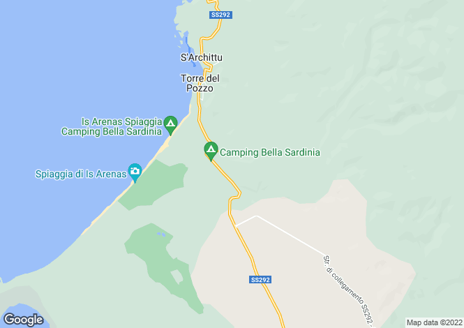 Map for Sardinia, Oristano, Santa Caterina di Pittinuri