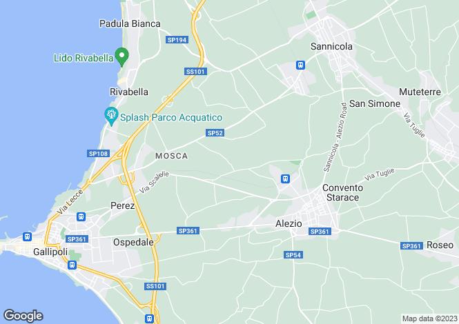 Map for Gallipoli, Lecce, Apulia