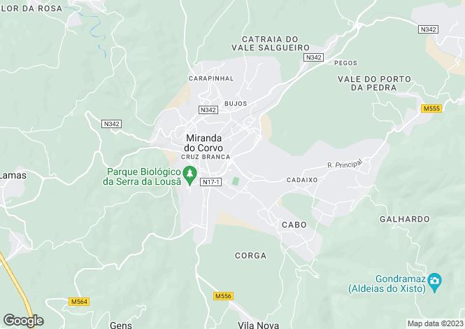Map for Miranda do Corvo, Beira Litoral