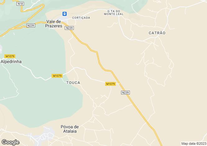 Map for Vale de Prazeres, Beira Baixa