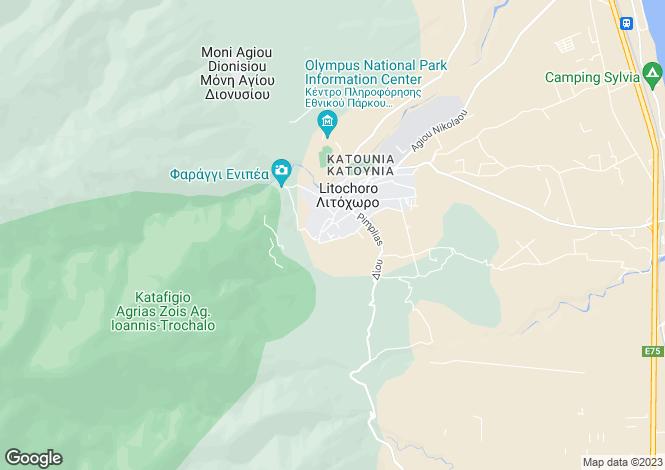 Map for Central Macedonia, Pieria, Litochoro