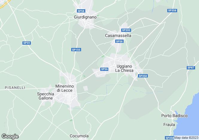 Map for Apulia, Lecce, Uggiano la Chiesa