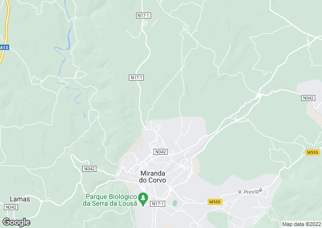 Map for Beira Litoral, Miranda do Corvo