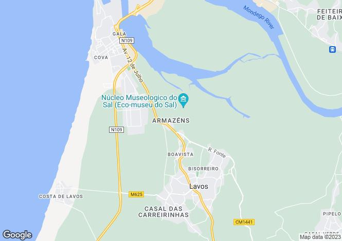 Map for Lavos, Figueira da Foz, Coimbra