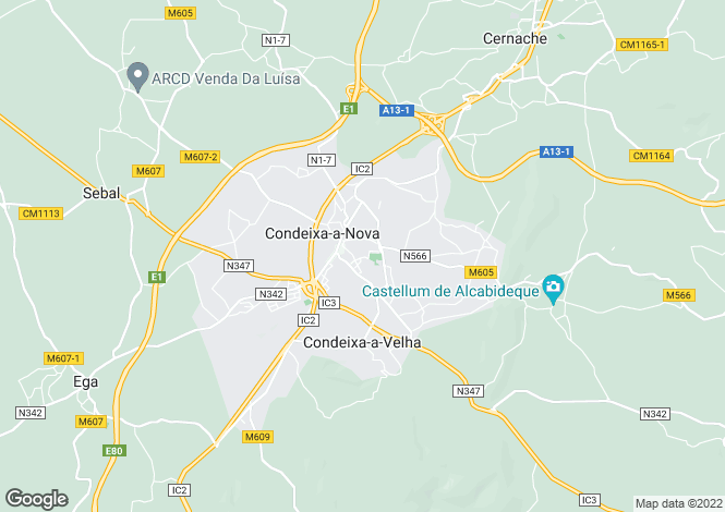 Map for Condeixa-a-Nova, Beira Litoral
