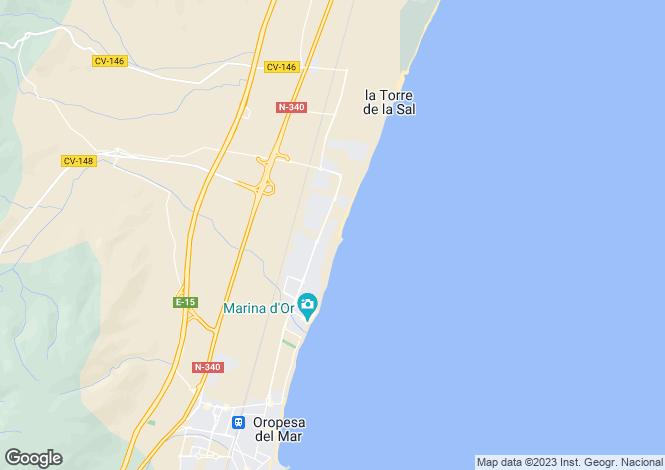 Map for Oropesa del Mar, Castellón de la Plana, Valencia