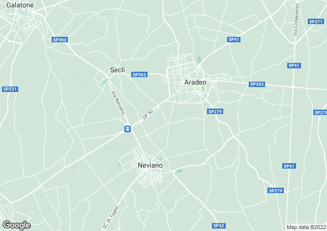 Map for Aradeo, 73040, Italy