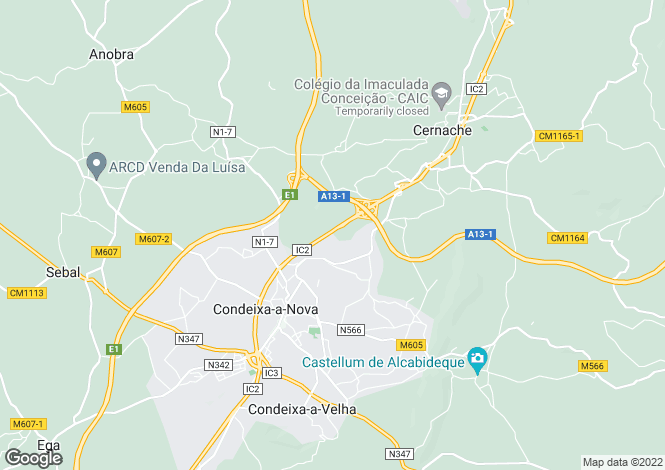 Map for Beira Litoral, Condeixa-a-Nova