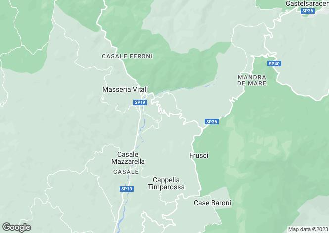 Map for Basilicata, Potenza, Lauria