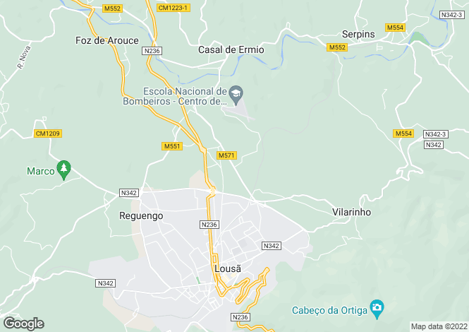 Map for Lousã, Beira Litoral
