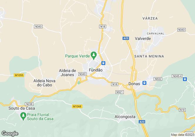 Map for Beira Baixa, Fundão