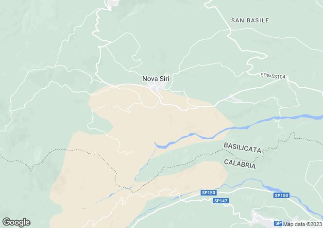 Map for Basilicata, Matera, Nova Siri