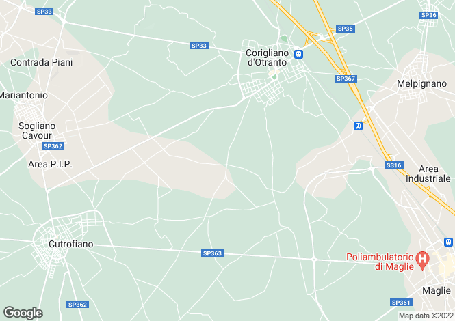 Map for Italy - Apulia, Lecce, Corigliano D'otranto