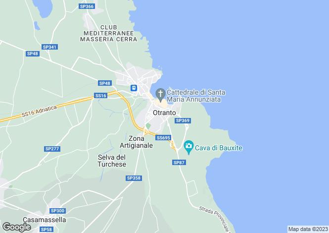 Map for Italy - Apulia, Lecce, Otranto