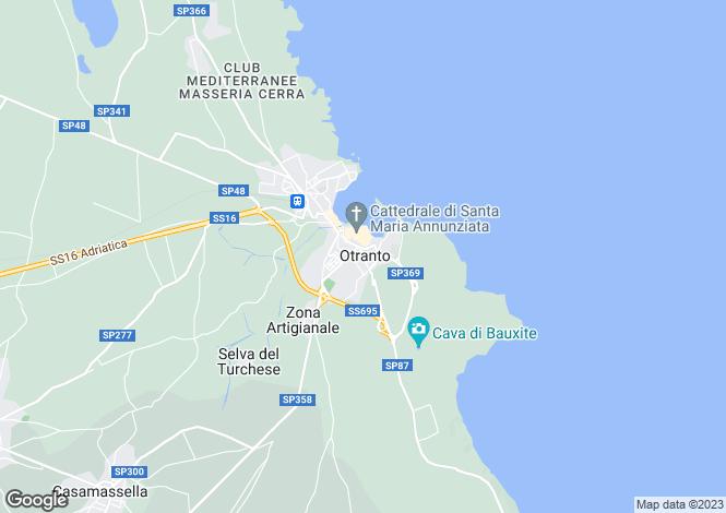 Map for Via Ottocento Martiri, Otranto, Apulia