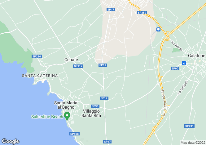 Map for SP17, Nardò, Apulia
