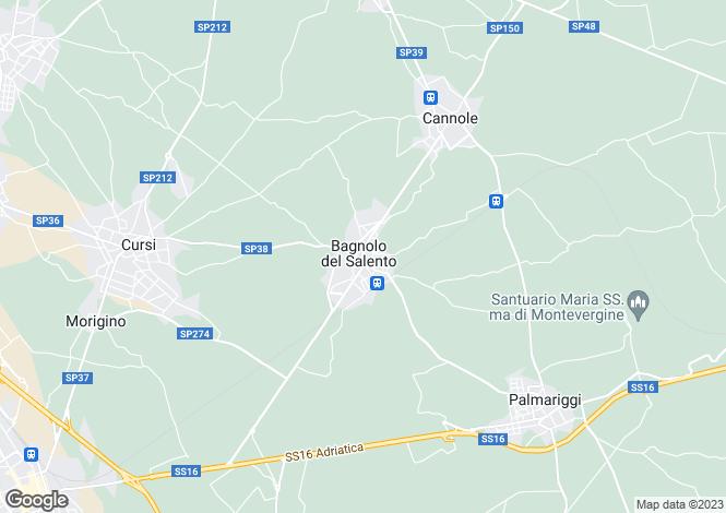 Map for Bagnolo Del Salento, Lecce, Apulia