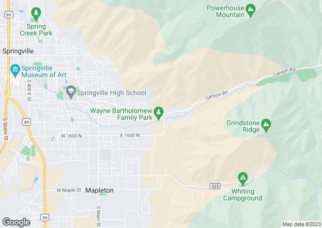 Map for Utah