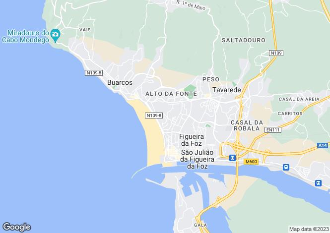 Map for Figueira da Foz, Beira Litoral