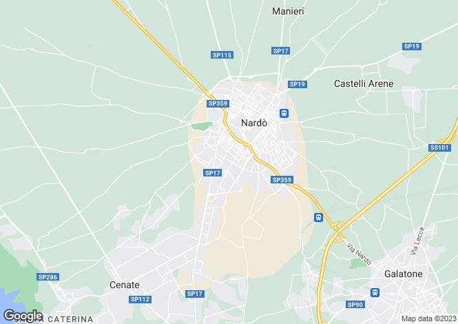 Map for Apulia, Lecce, Nardò