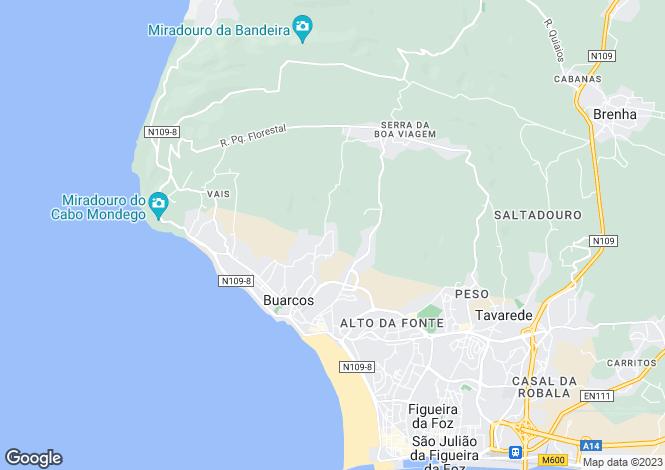 Map for Buarcos, Figueira da Foz, Coimbra
