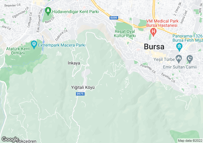 Map for Osmangazi, Osmangazi, Bursa