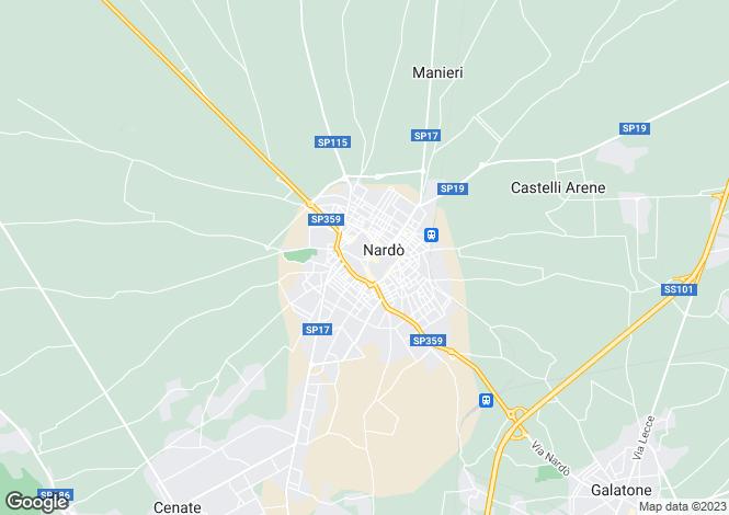 Map for Nardò, Lecce, Apulia