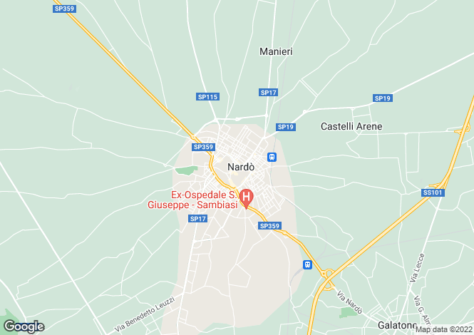 Map for Via Pellettieri, Nardò, Apulia