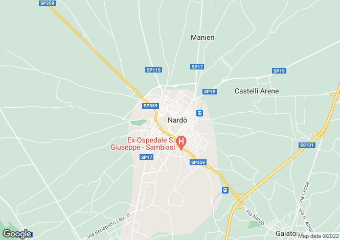 Map for Via Anime, Nardò, Apulia