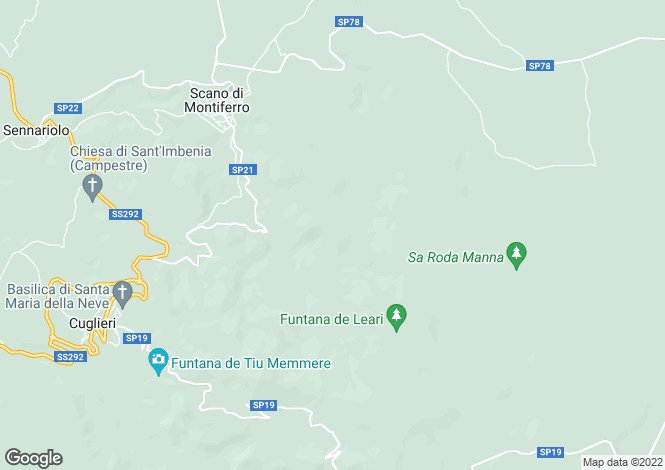 Map for Sardinia, Oristano, Scano di Montiferro