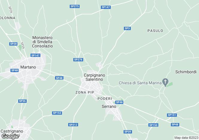 Map for SP3, Carpignano Salentino, Apulia