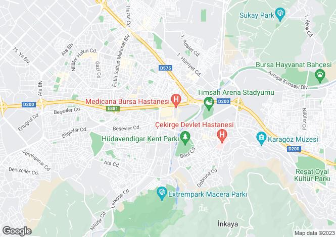Map for Bursa, Nilüfer, Hasanaga