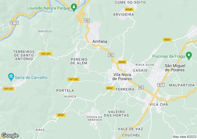 Map for Vila Nova De Poiares, Coimbra, 3350-094, Portugal