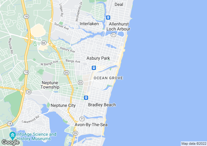Map for USA - New Jersey, Monmouth County, Ocean Grove