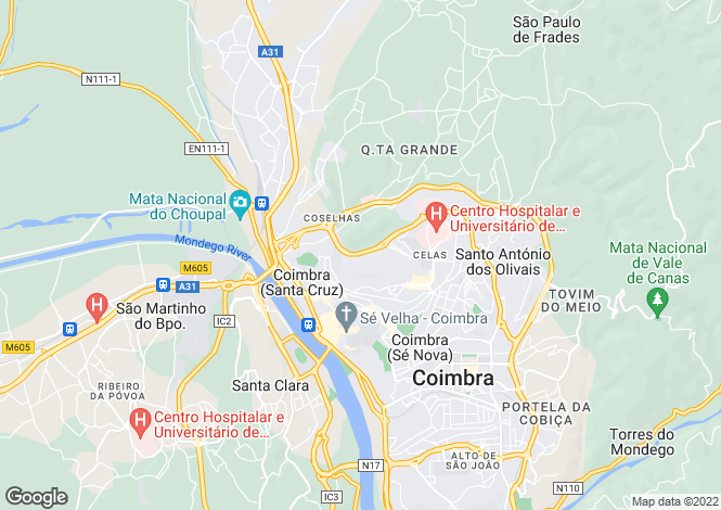Map for Coimbra, Beira Litoral
