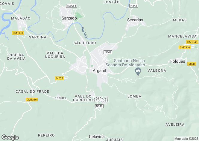 Map for Coimbra, Coja