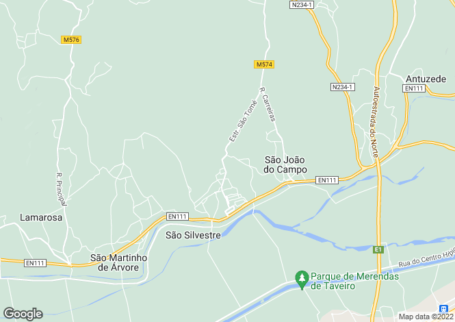 Map for Centro, Baixo Mondego, São Silvestre