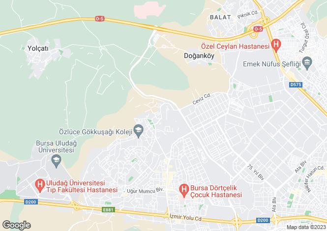 Map for Doganköy, Nilüfer, Bursa