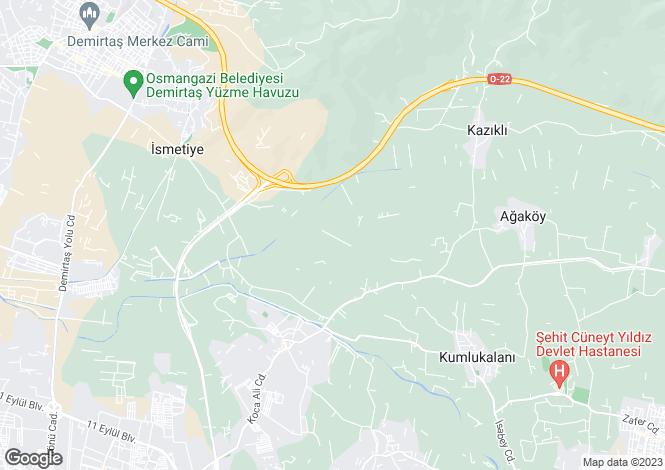 Map for Kazikli, Gürsu, Bursa