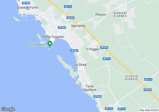Map for SP286, Porto Cesareo, Apulia