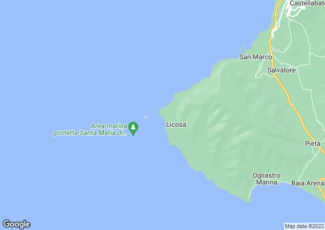 Map for Castellabate, Salerno, Campania