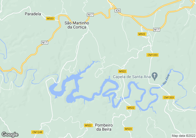 Map for Arganil, Beira Litoral