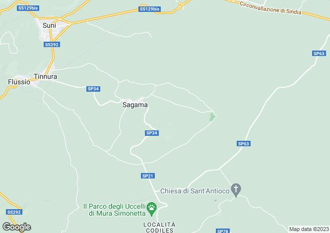 Map for Sardinia, Nuoro, Sagama