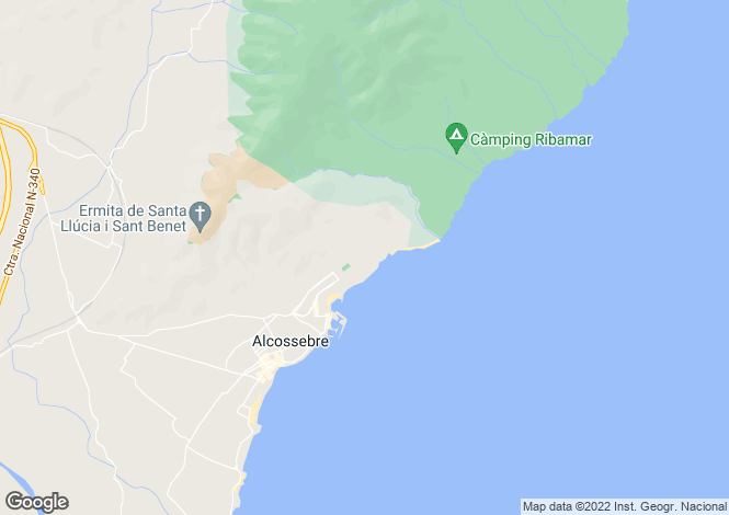 Map for Alcossebre, Castellón de la Plana, Valencia