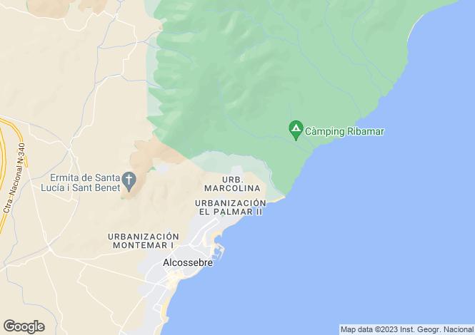 Map for Alcala de Xivert, Castellon, Spain