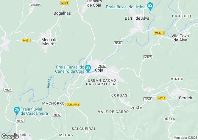 Map for Coimbra, Vinho