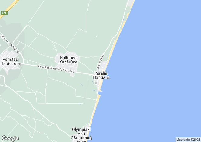 Map for Central Macedonia, Pieria, Kallithea