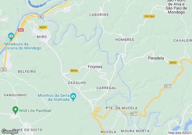 Map for Beira Litoral, Penacova
